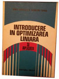 Introducere in optimizarea liniara si aplicatii